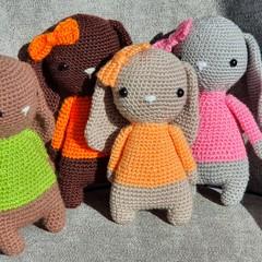 """Handmade Crochet Bunny """" Lilly """", The Crochet Bunny Lady, Bunny Amigurumi"""