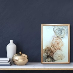 The Dusk Collection Original Art - 5 x 7 rose painting