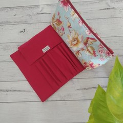 Toiletries bag with brush roll