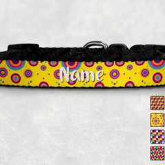 Bright Geographic Printed Dog Collar