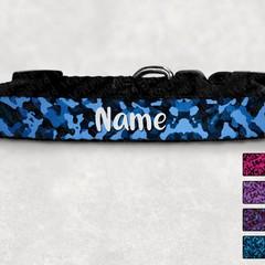 Dark Camo Printed Dog Collar