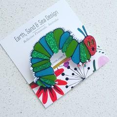 Caterpillar - Acrylic brooch