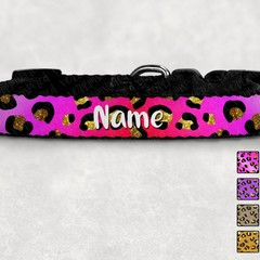 Leopard Printed Dog Collar