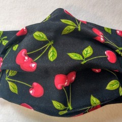 Cherry facemask: full coverage convertible cloth mask with removable filter