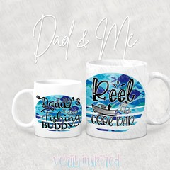Dad & Me, Fishing Mug Set, Daddy and Me, Fathers Day