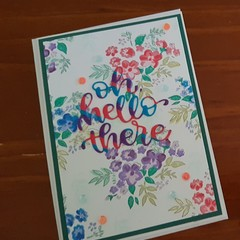Oh Hello There - Floral card