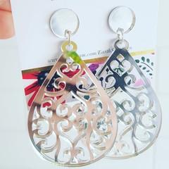 Gold or Silver Acrylic - Dangle Earrings