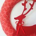 READY TO SHIP door wreath rudolf reindeer Christmas