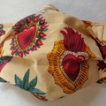 Sacred Hearts facemask: full coverage convertible mask with removable filter
