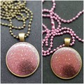FREE POSTAGE Resin Pendant with Solid Brass Ball Chain Necklace