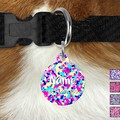Large Double Sided Pet ID Tag, Bright Camo, Dog tag, Cat tag, Camouflage, Person