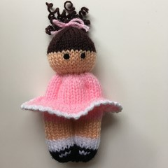 Nicola -  Hand Knitted Doll
