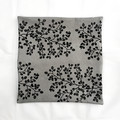 Hand screen printed 'fagus' cushion cover with feather insert