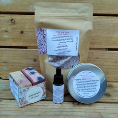 Rose Pure Olive Oil Duo Soap , Bath Soak , Lotion Bar and Face Oil (skin care pa