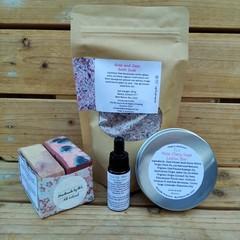 Rose Pure Olive Oil Duo Soap , Bath Soak , Lotion Bar and Face Oil (skin care pa