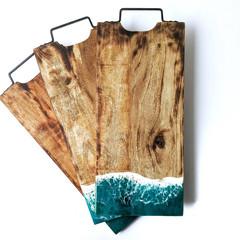 Ocean Resin Art, Resin Cheese Board, Resin Chopping Board, Wedding Gift