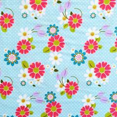 Dream and a Wish Floral Blue Stretch Knit - Price per half metre
