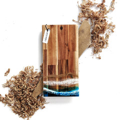 Ocean Resin Cheese Board, Chopping Board, Christmas Gift Foodie, Housewarming