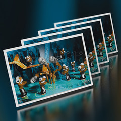 Cavern Of The Cave Socks With John Malkovich - Mini Art Cards