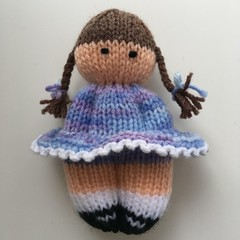 Mia -  Hand Knitted Doll