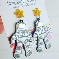 Astronauts Acrylic Dangle Earrings