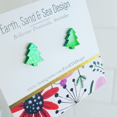 Christmas Tree Acrylic Studs
