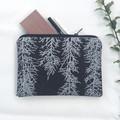 Screen printed Huon pine zip pouch