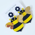 Bees Acrylic Dangle Earrings