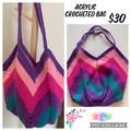 Crocheted Girly Acrylic Bag