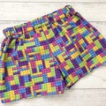 Rainbow Lego Brick Shorts, Size 1 and 3, Girls Shorts