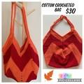Crocheted Fire Cotton Bag