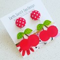 Cherries Acrylic Dangle Earrings