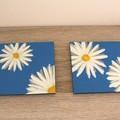 Daisy Resin Coasters - Light Blue