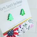 Christmas Tree Acrylic Studs