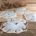 Agate Free Hand Floral Coasters