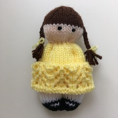 Bea- Hand Knitted Doll