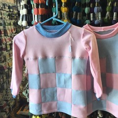 Blue and Pink Fleecy Top - Size 6