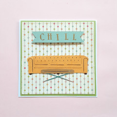 Sofa / Chill Handmade Card / Lasercut Card / Paper Collage