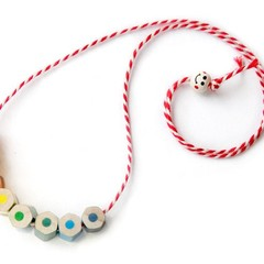 Coloured penicl necklace - rainbow colors - great teacher gift