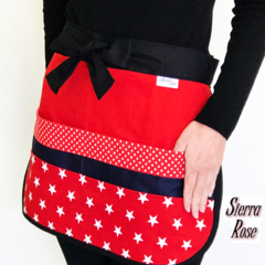 Half Apron Red Star Six pockets FREE POST!