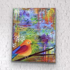Colourful bird wall art -  Bird home décor - Bird print - Free as a Bird