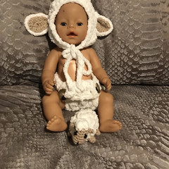Sheep baby prop set with mini toy