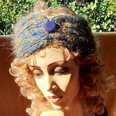 Blue and Gold Headband