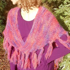 Shawl in Pinks and Mauves