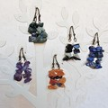 Simple boho gemstone chip short drop earrings , Purple Blue Orange Black White