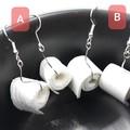 Miniature Toilet paper roll dangle Earrings, cute jewellery