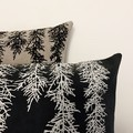 Hand printed Huon pine cushion with feather insert