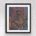 Ganesh wall art - Lord Ganesha home décor -  Elephant god print Ganesh (mosaic)