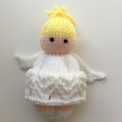 Christmas Angel-  Hand Knitted Doll