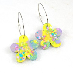 Spring Flowers Collection - yellow, purple & blue mix